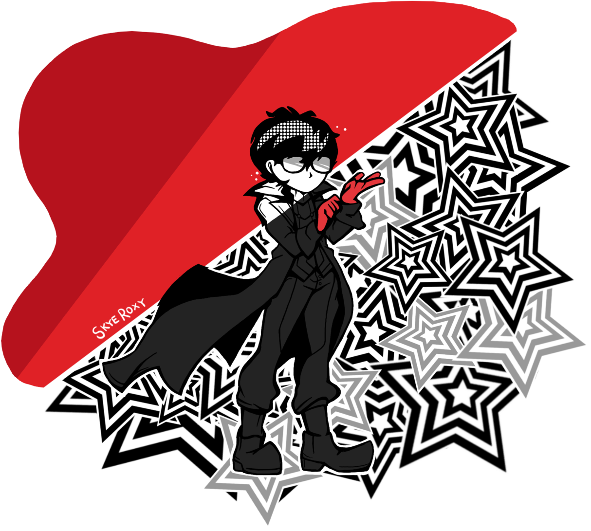 Persona 5 Joker Png Drew Some Persona 5 Fanart For A School Project Illustration 4201382 Vippng