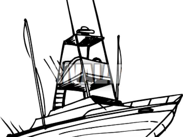 Yacht Png Fishing Boat Clipart Green Boat Sport Fishing Boat Silhouette 4266436 Vippng