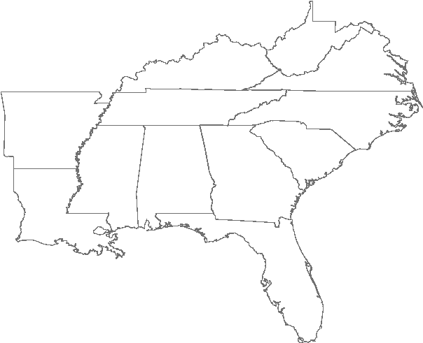 southeast us map blank Usa Outline Png Map Of Capitals Of Southeast Us Us Southeast
