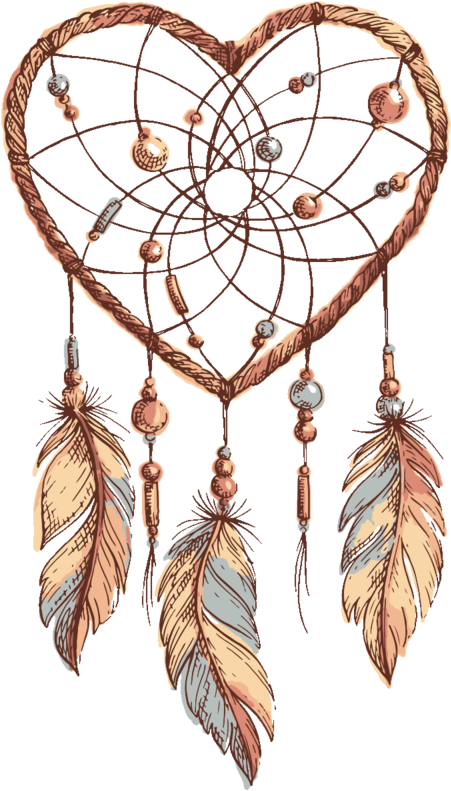 Dreamcatcher Png Sketch Drawing Dreamcatcher Free Transparent Image Heart Shaped Dream Catcher Drawing 4553997 Vippng
