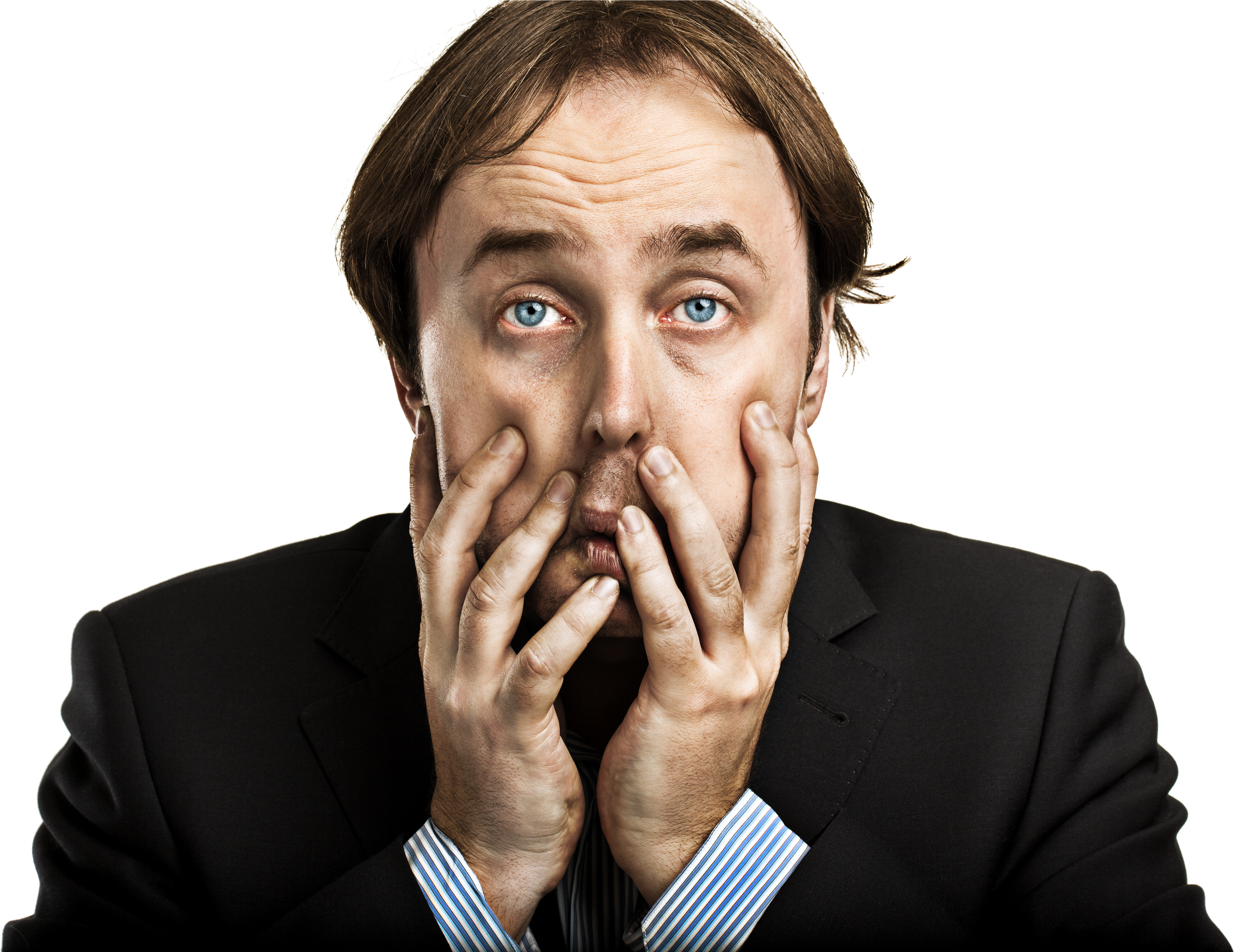 Crying Png Confused Transparent Clipart Person With Hands On Face 4607378 Vippng