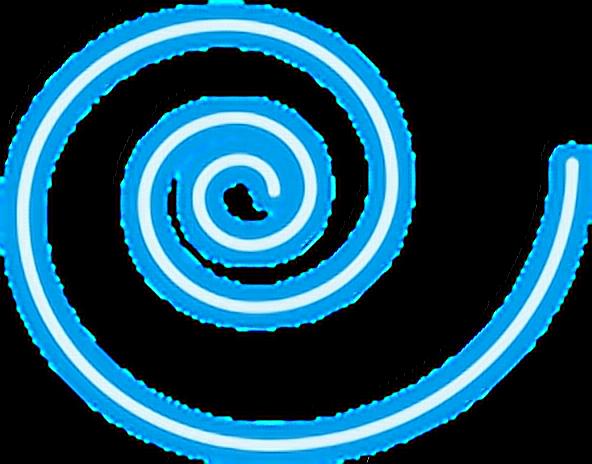 Blue Swirl Png Blue Swirl Neon Glowing Neonsign Snapchat Asahikawa 4641248 Vippng