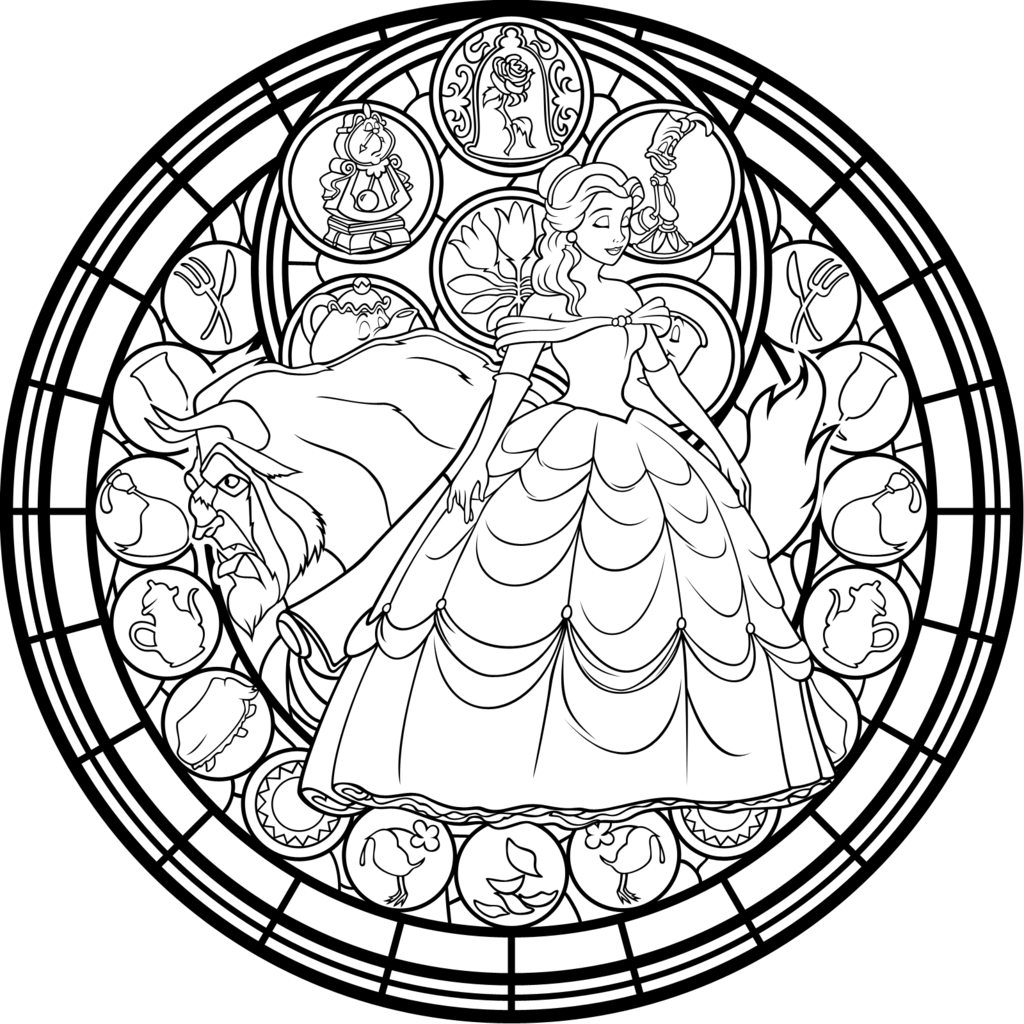 Beauty And The Beast Png Beauty And The Beast Adult Coloring