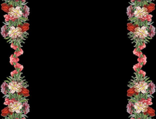 Vintage Flower Border Png Flowers Borders Clipart Vintage Flower