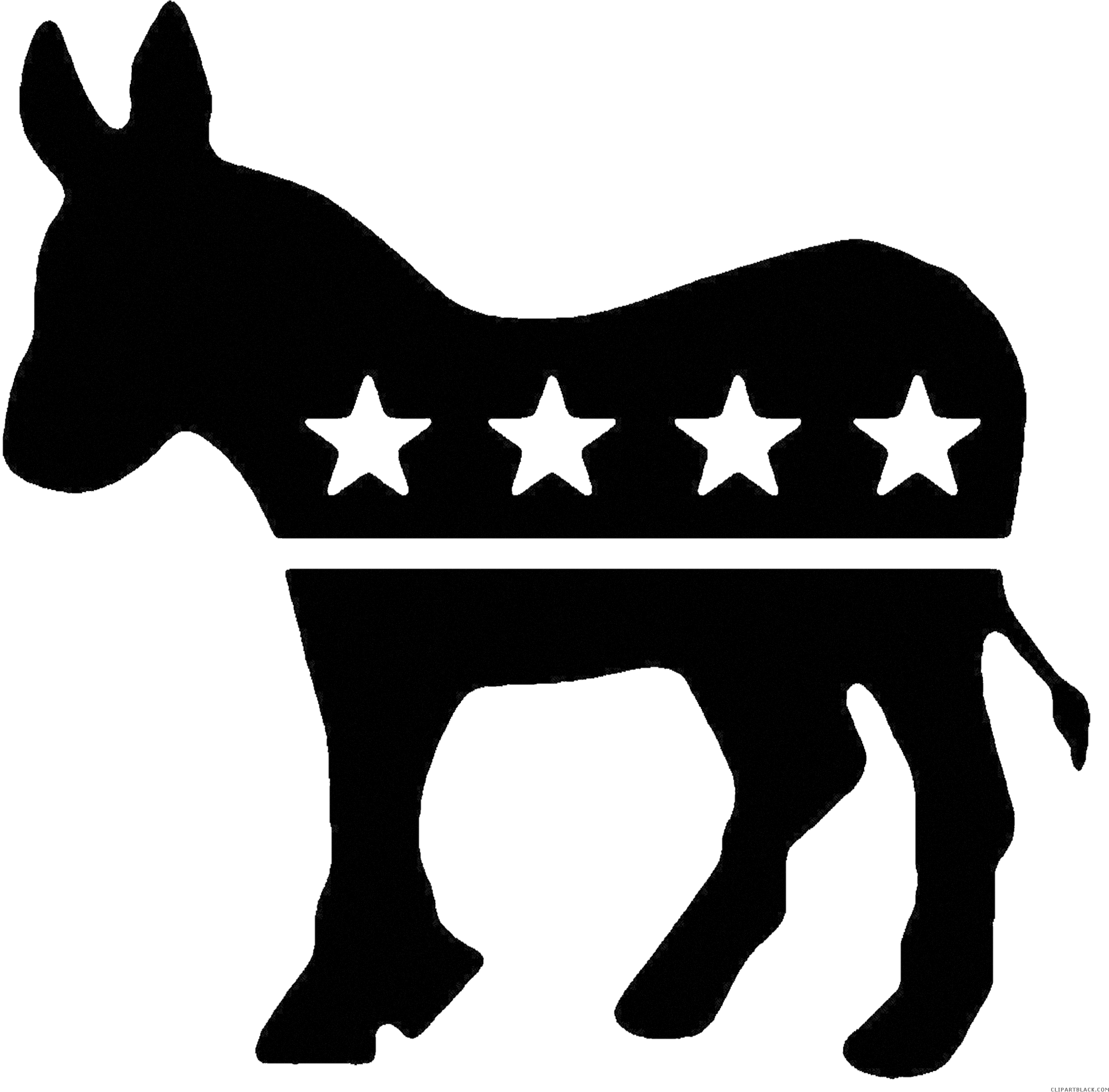 Donkey Shrek Png Graphic Transparent Stock Democratic Clipartblack Com Democratic Party Logo Black And White 505946 Vippng
