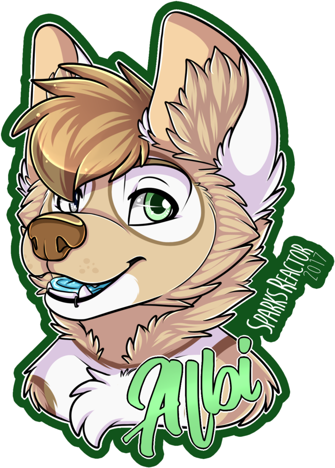 Anime Wolf Png Albi Badge By Sparksfur Wolf Drawings Cute Animal Woffles Badge By Sparksfur Furry In 2019 Lupo 5001870 Vippng