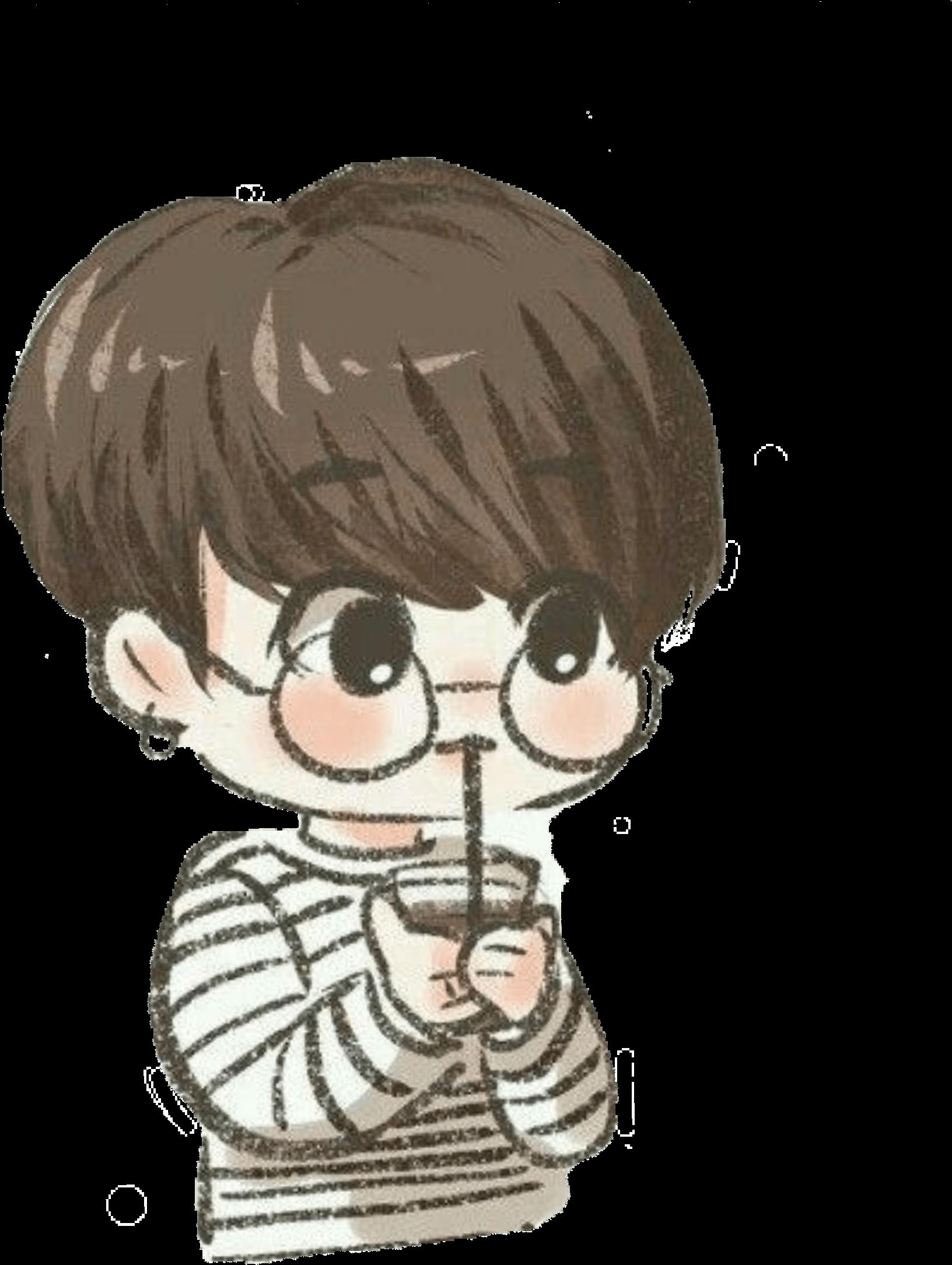 Bts Stickers Png Jungkook Bts Cute Chibi Bts Chibi Drawing