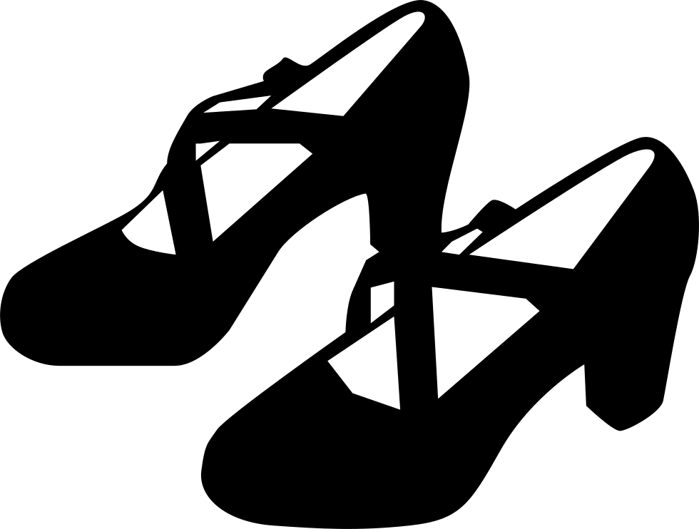 Shoe Icon Png Flamenco Dance Black Female Shoes Svg Png Dance Shoe Clipart Black And White 5134926 Vippng