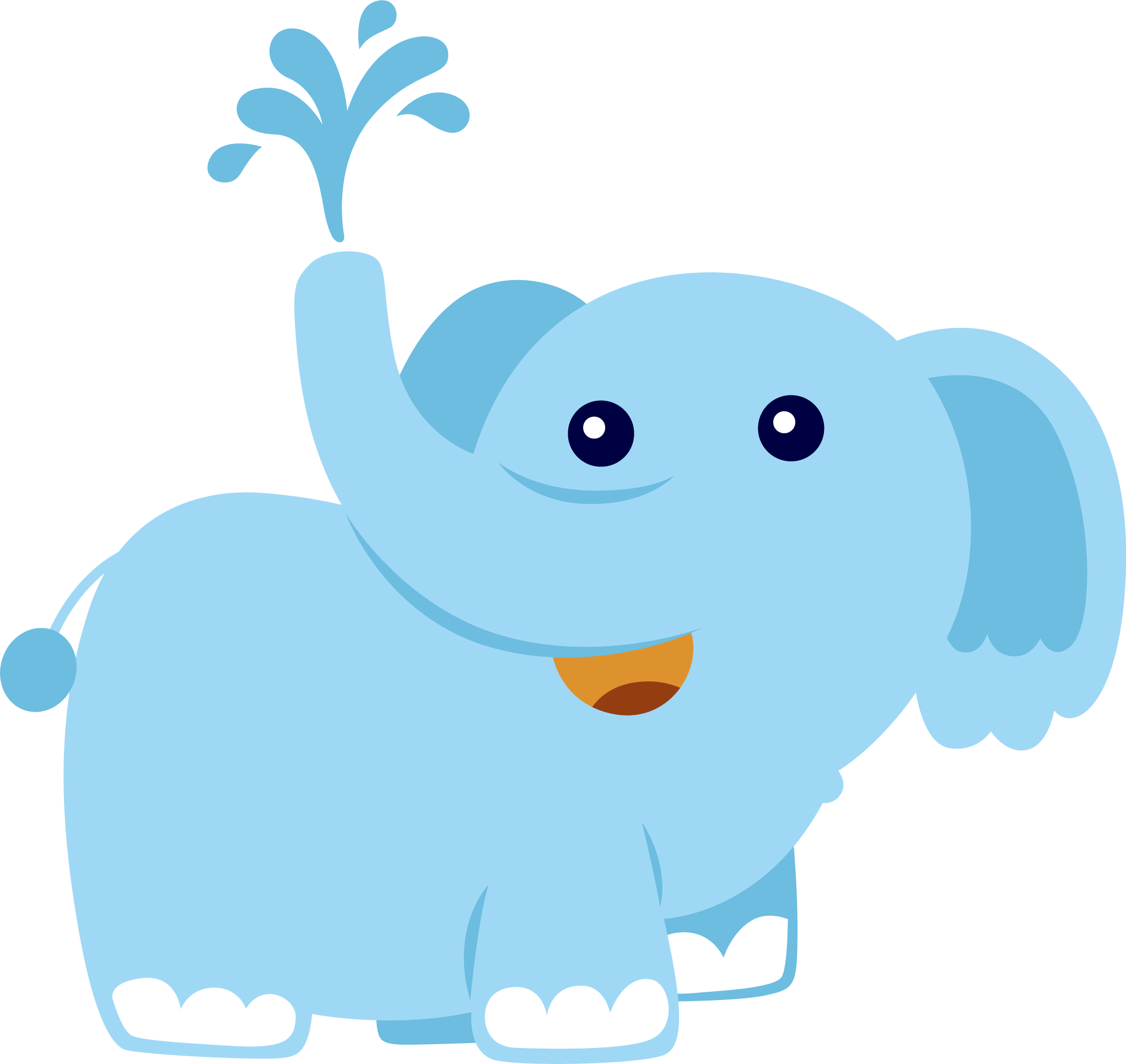Jungle Animals Png Elephant Illustration Baby Clip Art Jungle