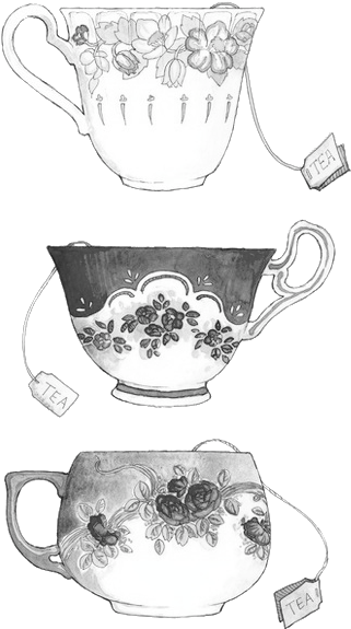 Teacup Drawing Png Alice Art And Black And White Image Tea Cup 5321526 Vippng