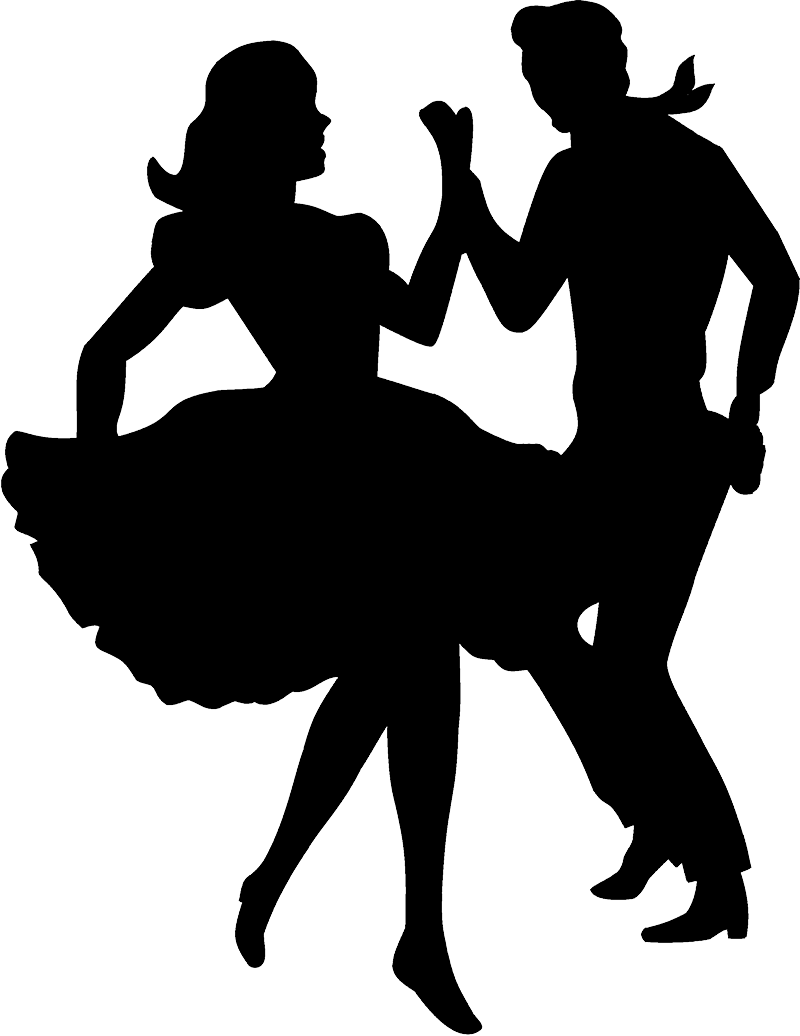 Couple Silhouette Png Dancer Clipart Western Dance Square Dance 71302 Vippng