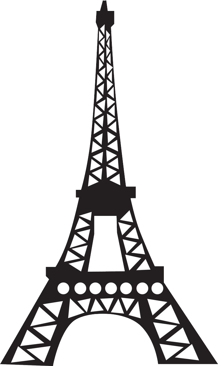 Torre Eiffel Png Eiffel Tower Black And White Drawing 762988 Vippng