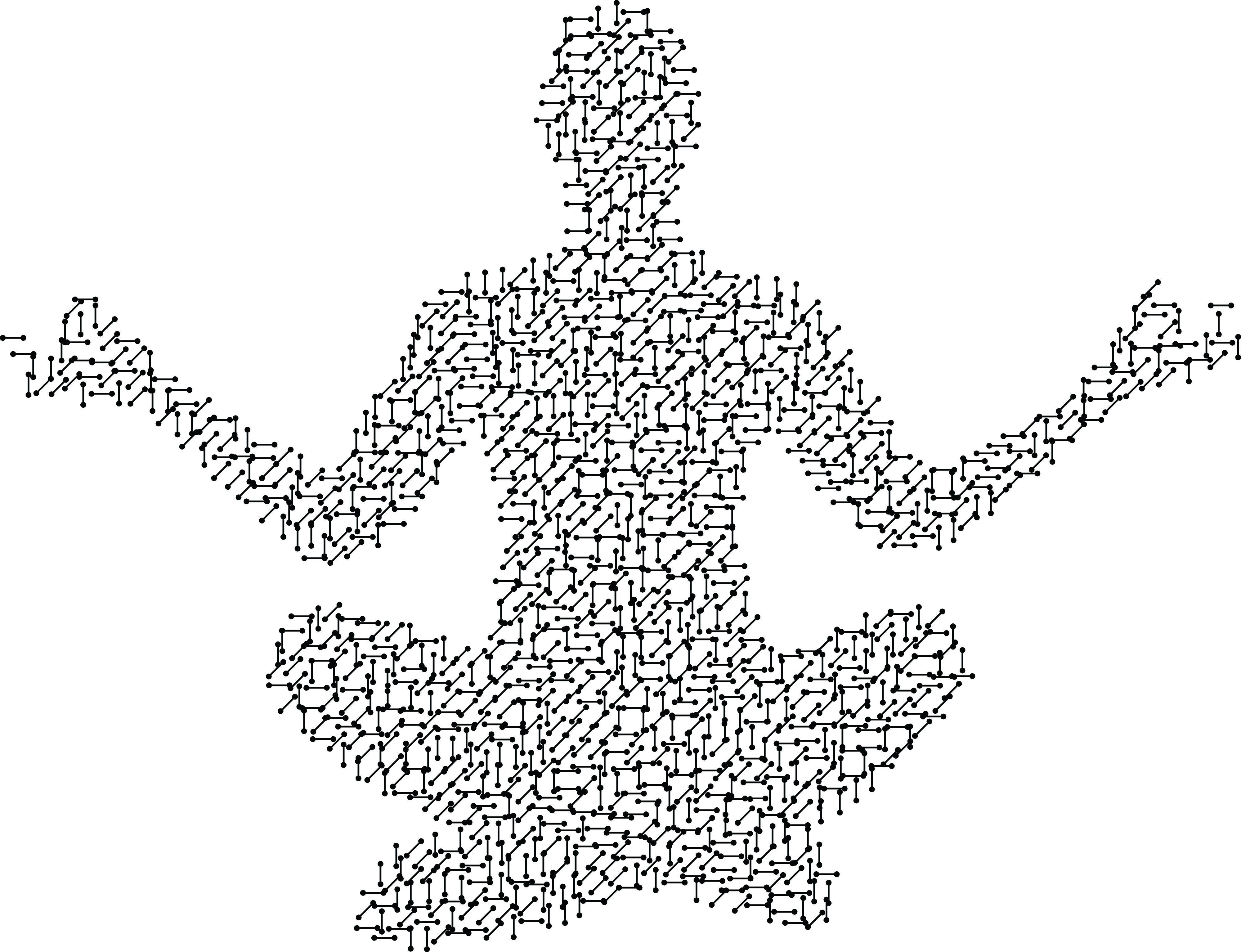 Meditation Png Free Clipart Of A Circuit Patterned Person Meditating Yoga Man Silhouette 803528 Vippng