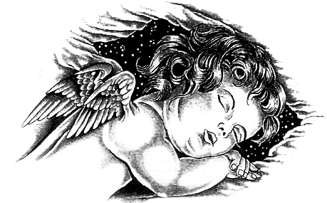 Baby Angel Png Tattoo Baby Angel Sketch 843952 Vippng