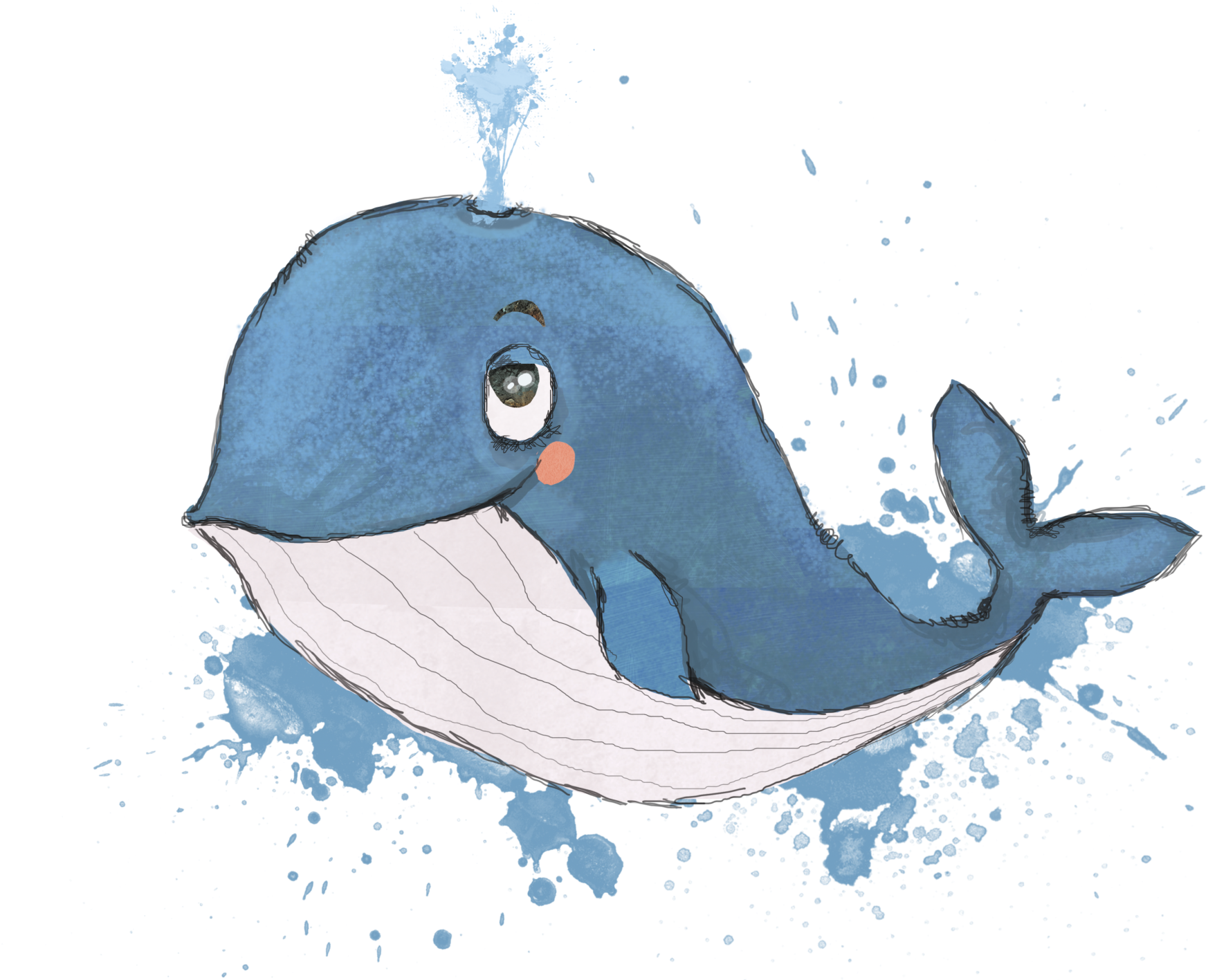 Cartoon Whale Png Blue Whale Png Download Dried Blood 957218 Vippng